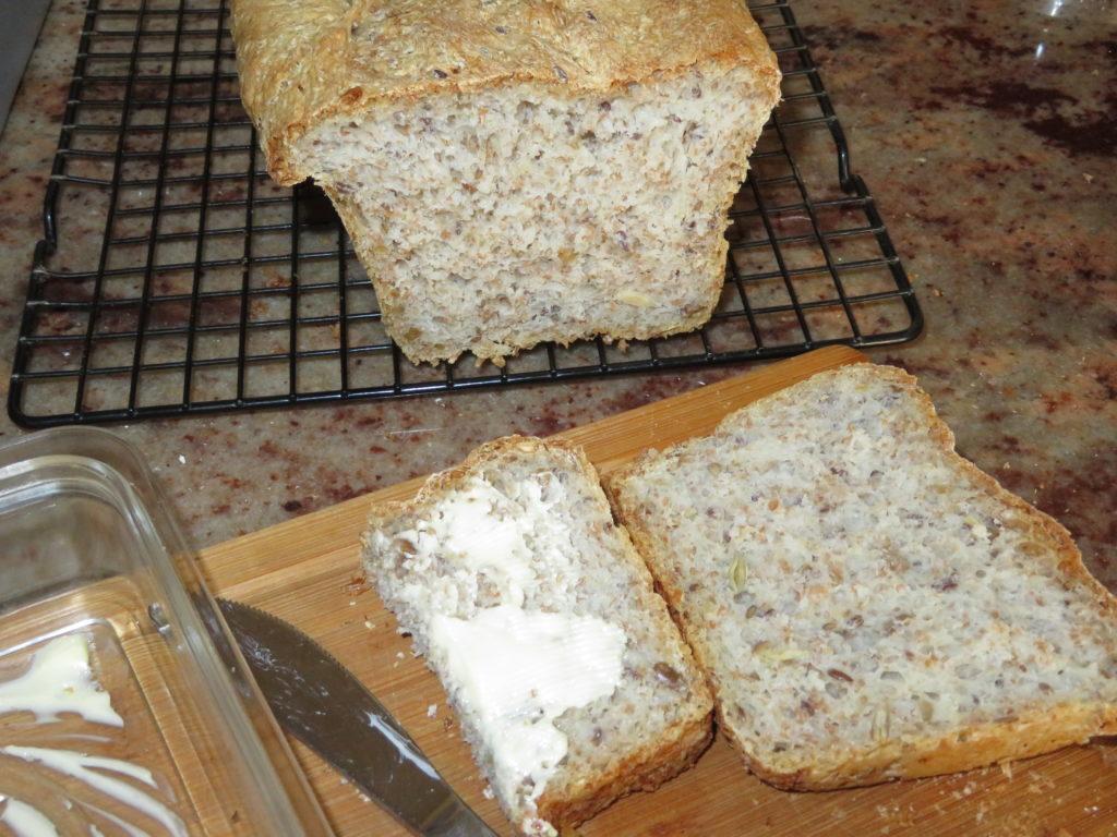 Prosty chleb otrębowy