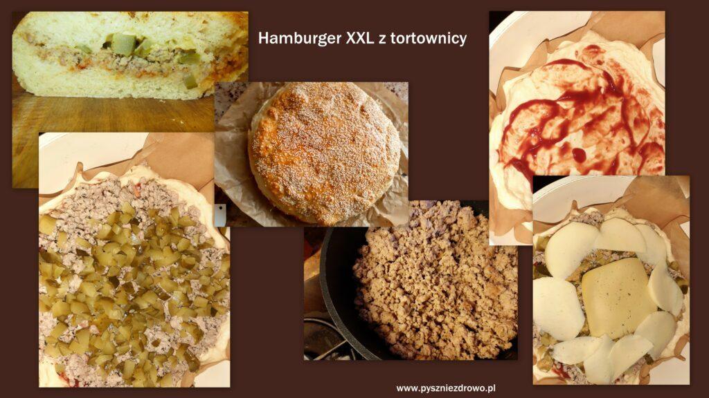 Hamburger XXL z tortownicy